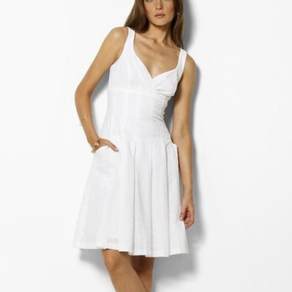 special buy variousstyles shop for official NWT Ralph Lauren White Cotton Eyelet Sundress 8 NWT